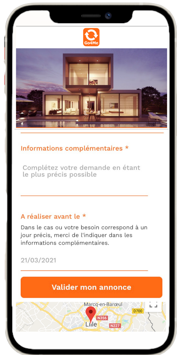 Go4Me iPhone 12 proposition d'annonce